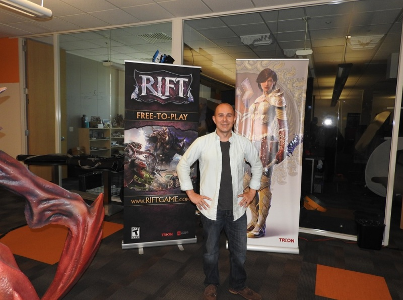 Scott Hartsman, CEO of Trion Worlds, at the company's headquarters in Redwood City, Calif.