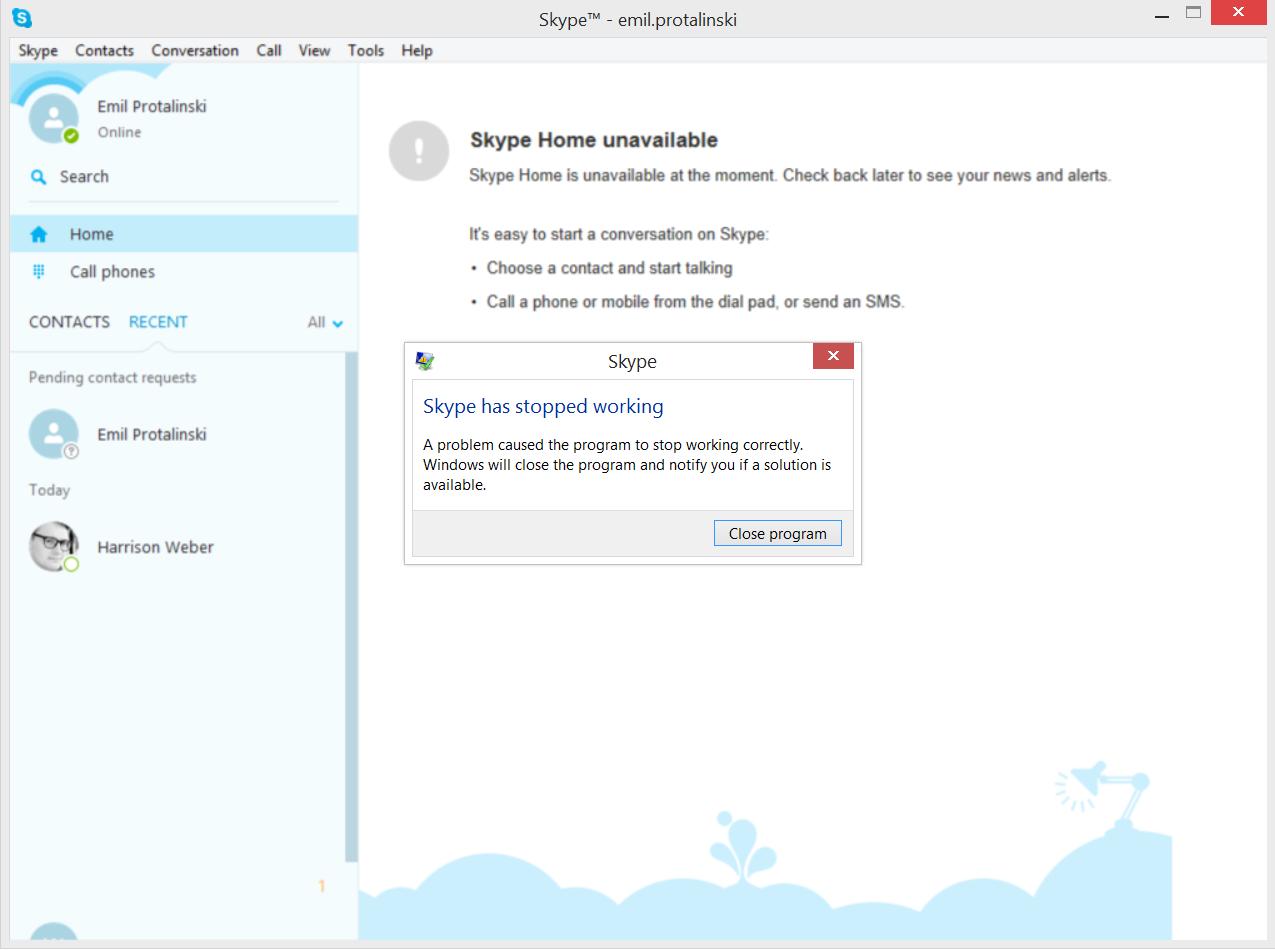 SkypeCrash