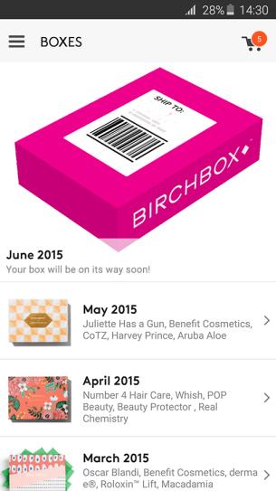Birchbox Android