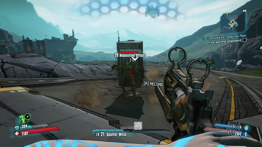 Borderlands 2 is the first-person action-RPG shooter.