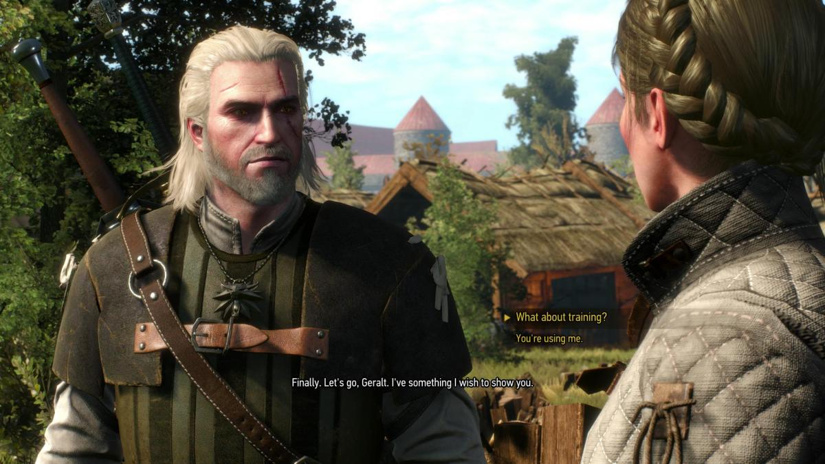 There's a lot of talk in The Witcher 3: Wild Hunt.