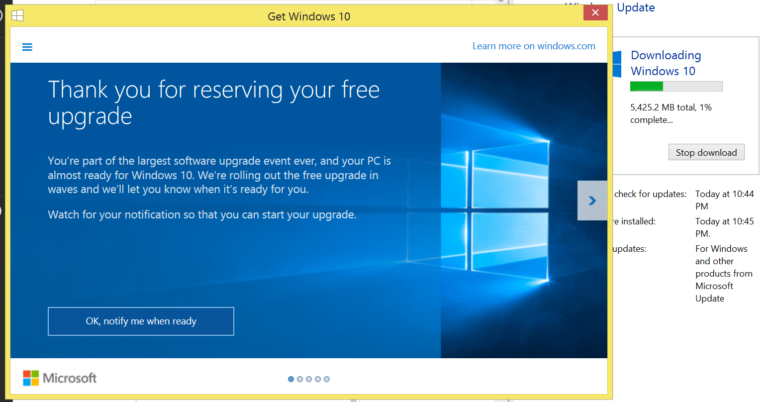 How to force Windows to start downloading the Windows 10 update