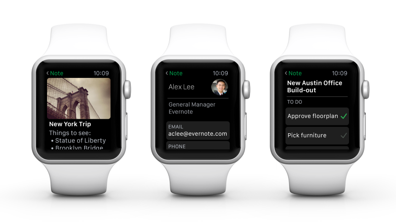 Images of Evernote for Apple Watch