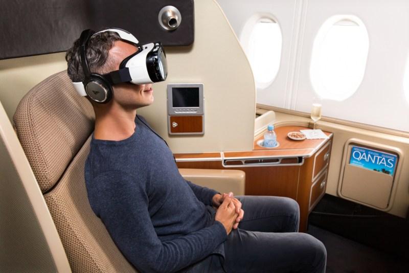 Qantas is offering Samsung's Gear VR platform to passengers.