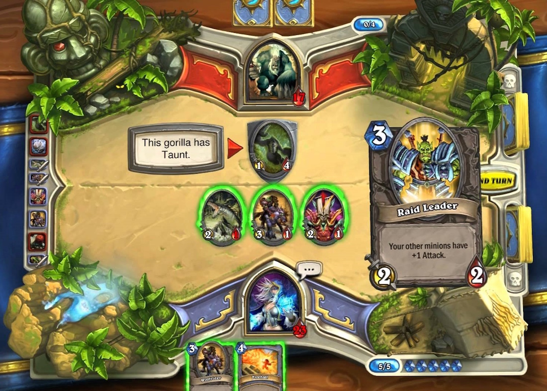Hearthstone: Heroes of Warcraft's tutorial is a good example of properly onboarding players.