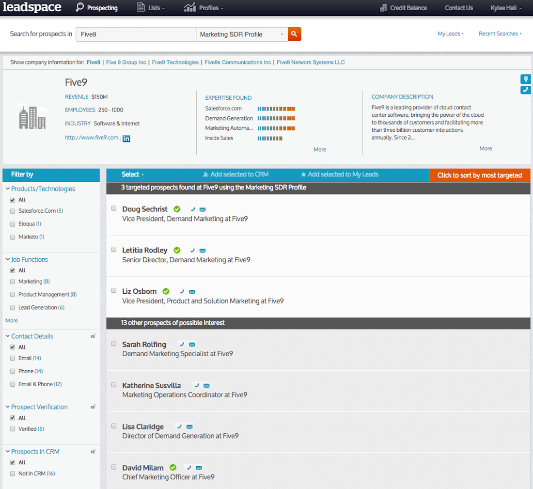 Predictive lead scorer Leadspace, founded on data tactics used ...