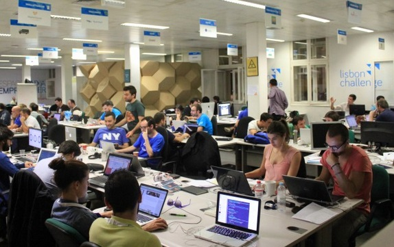 Startups at Lisbon Challenge.