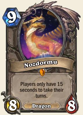 Nozdormu the impatient dragon.