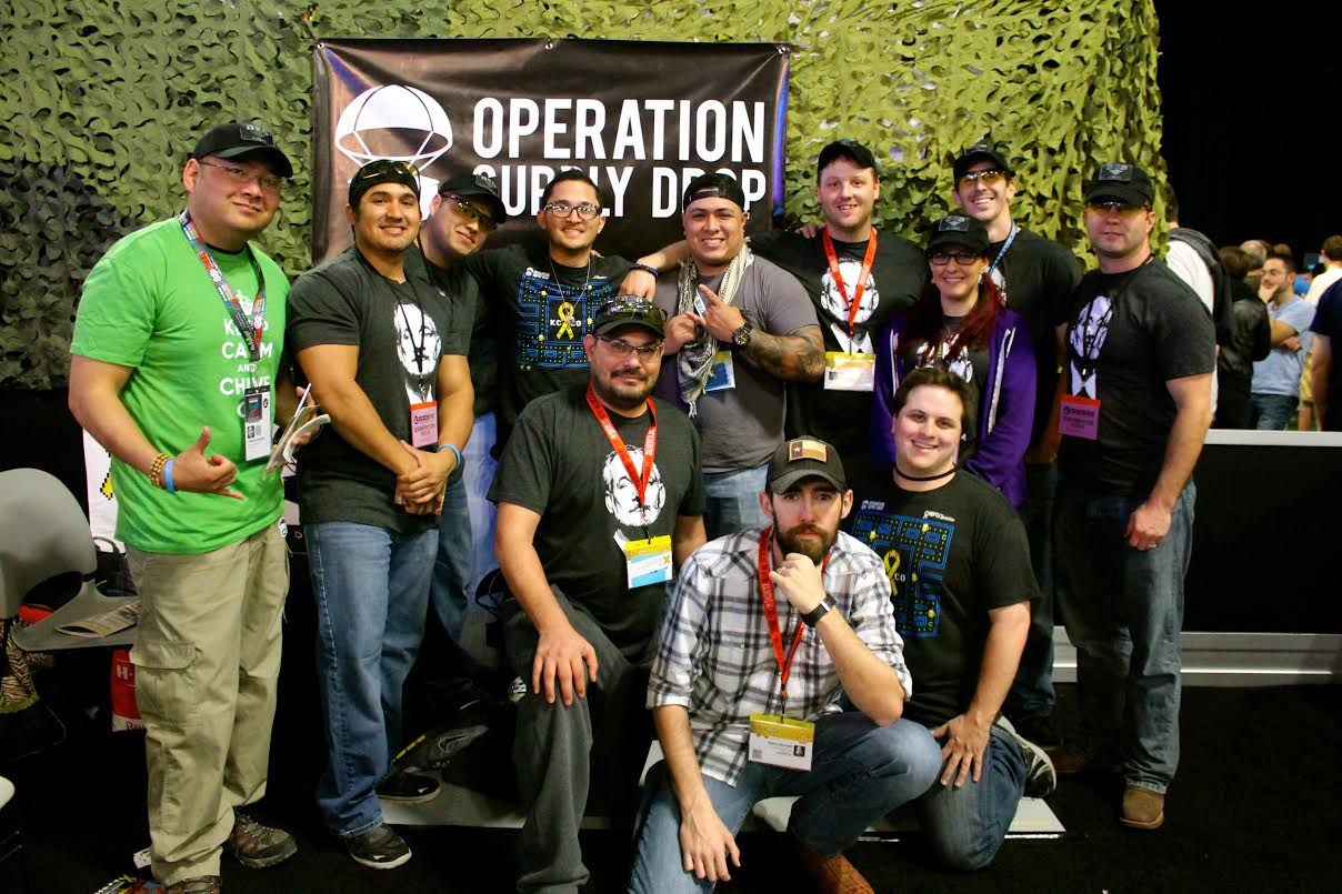 Sgt. Steven Giddings and the OSD team at SXSW.