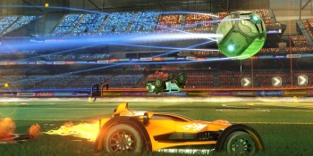 Rocket League's new mode has players fighting over a collapsing floor