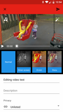 YouTube Android: Edit