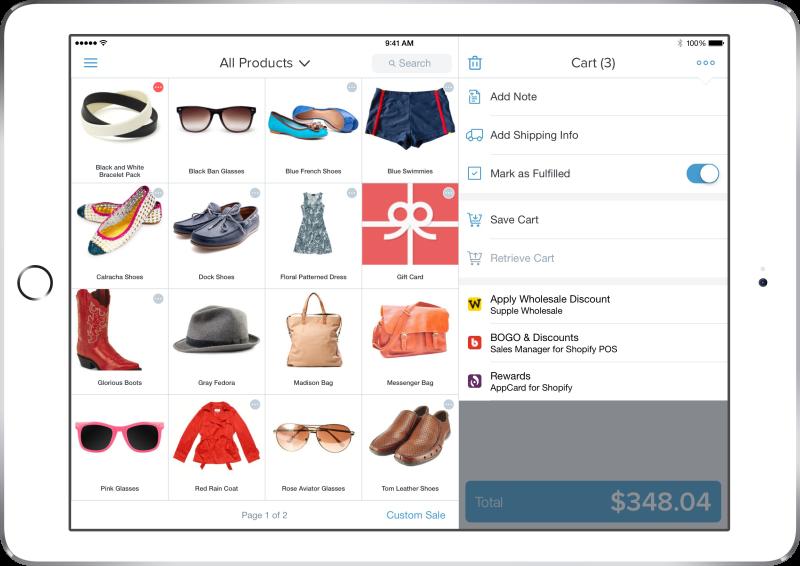 Shopify POS Apps Edit Cart
