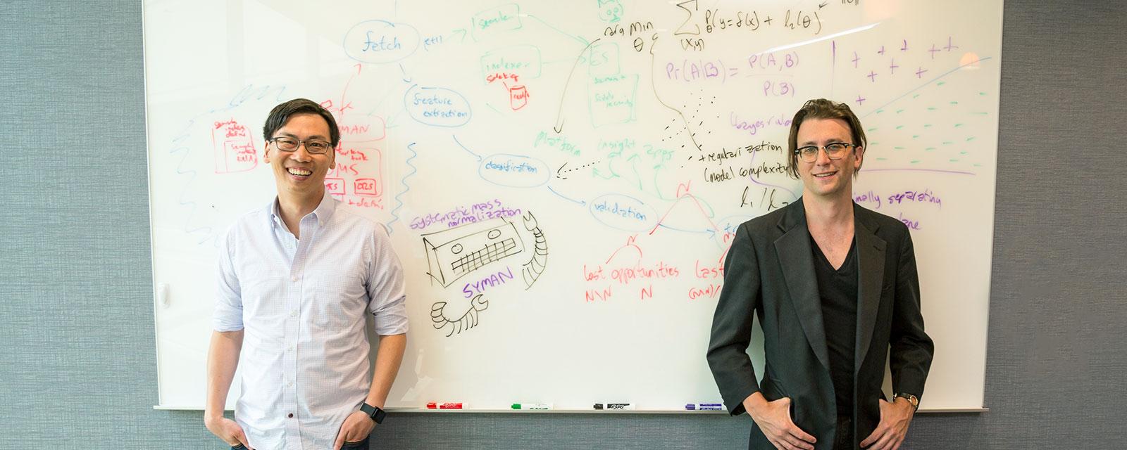 Upshot cofounders Thomas Kim, left, and Joseph Turian.