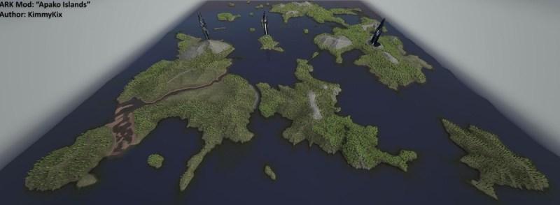 An Ark mod, Apako Islands, made by modder KimmyKix.
