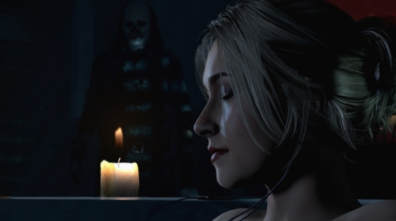Oh no, don't take a bath. A scene from Until Dawn.