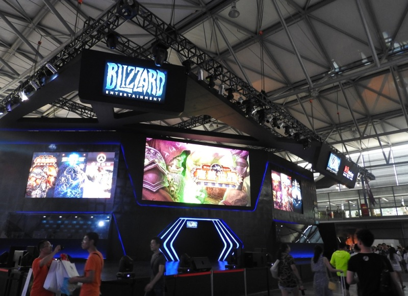 Blizzard at ChinaJoy.