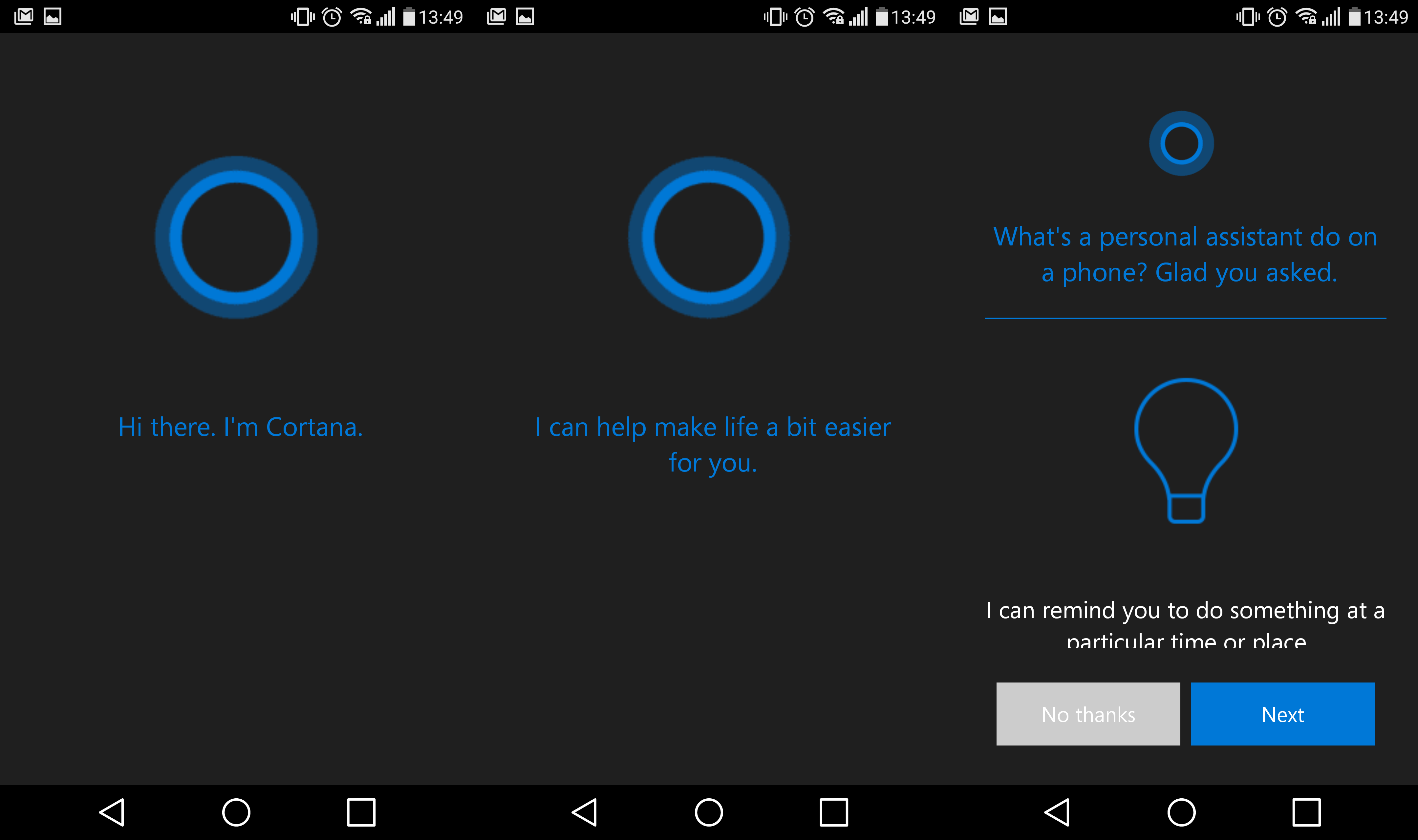 Cortana for Android leaks, Microsoft suggests a tester in ...