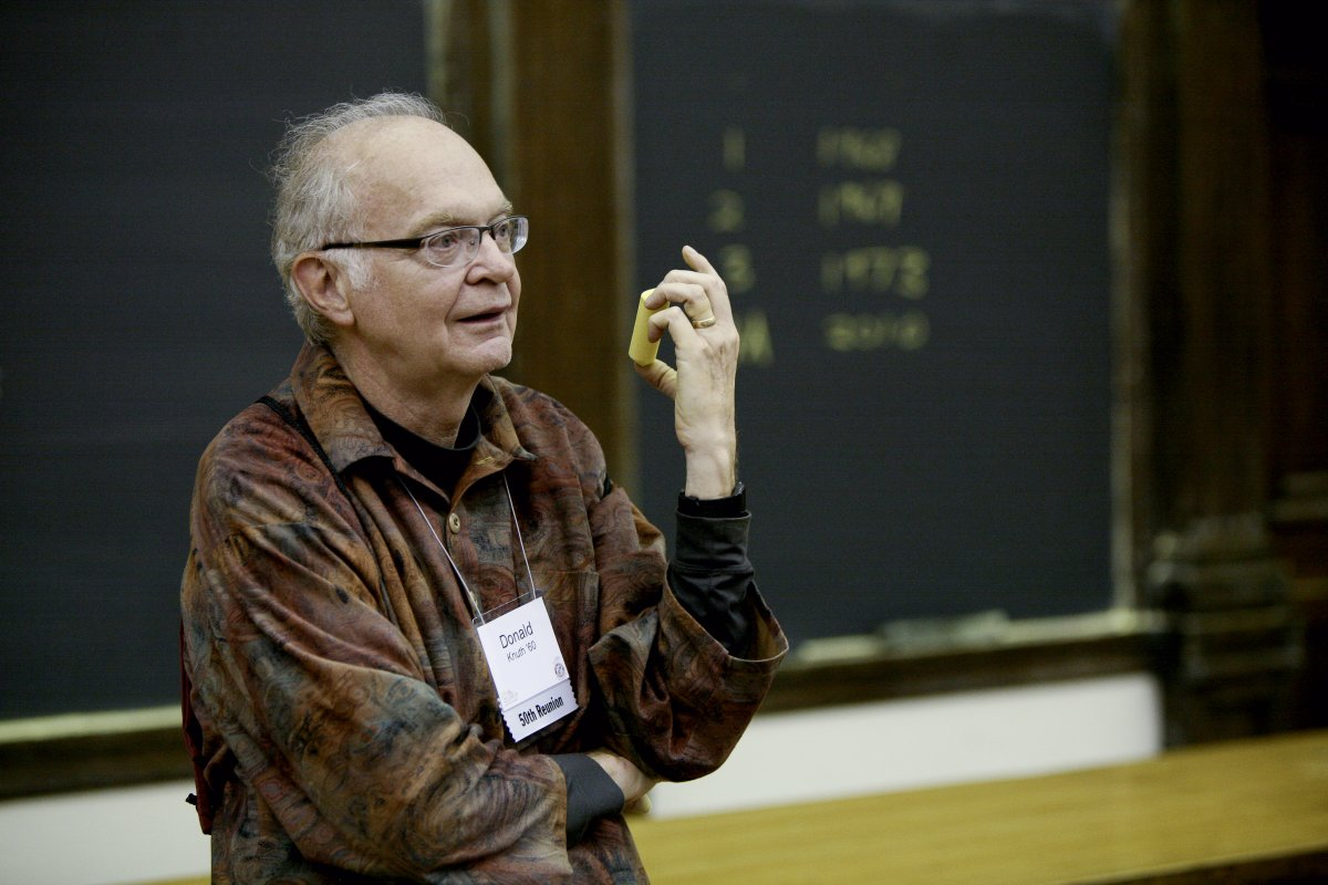 """Donald Knuth, the """"father of the analysis of algorithms"""""""