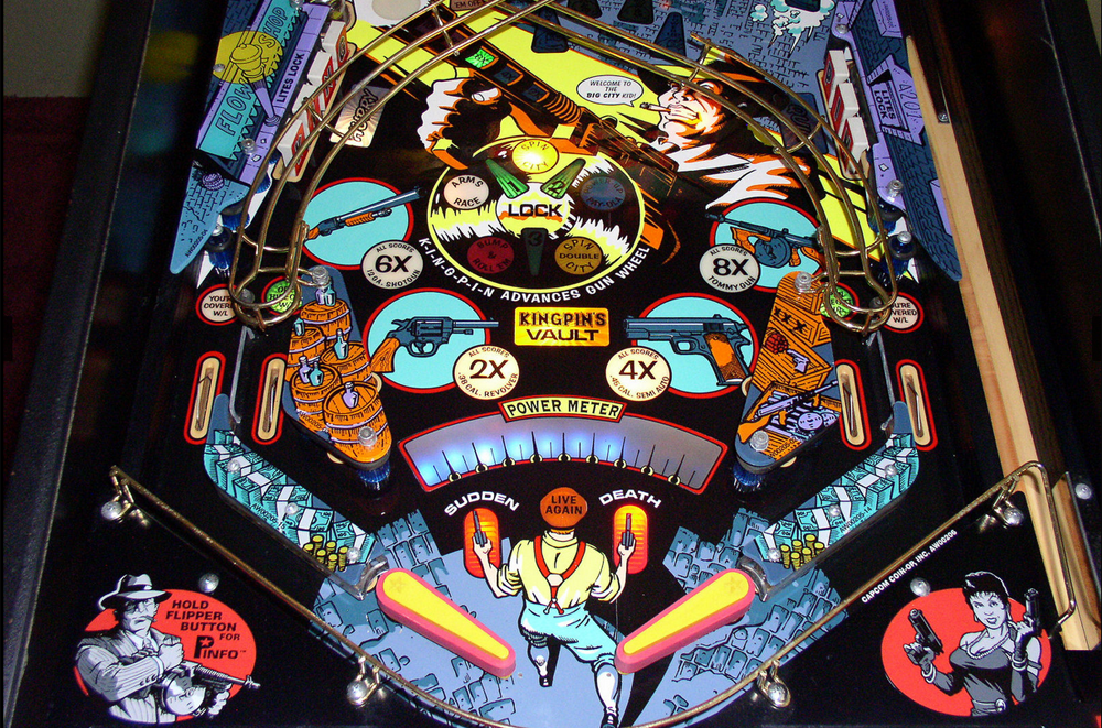 Capcom's Kingpin Pinball playfield