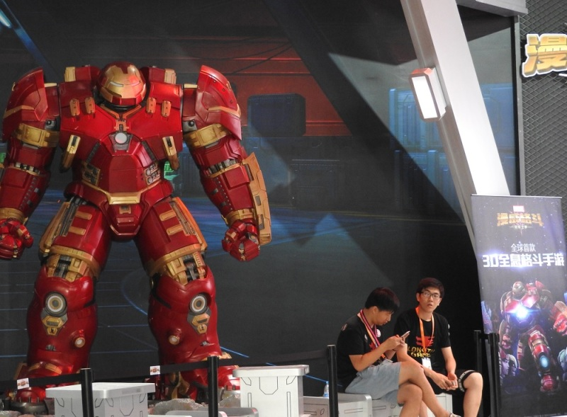 Marvel: Contest of Champions character at Longtu's booth at ChinaJoy.