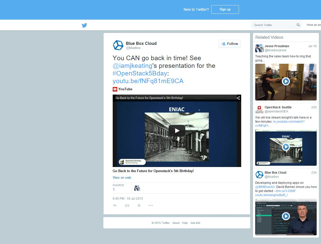 twitter related videos blue box
