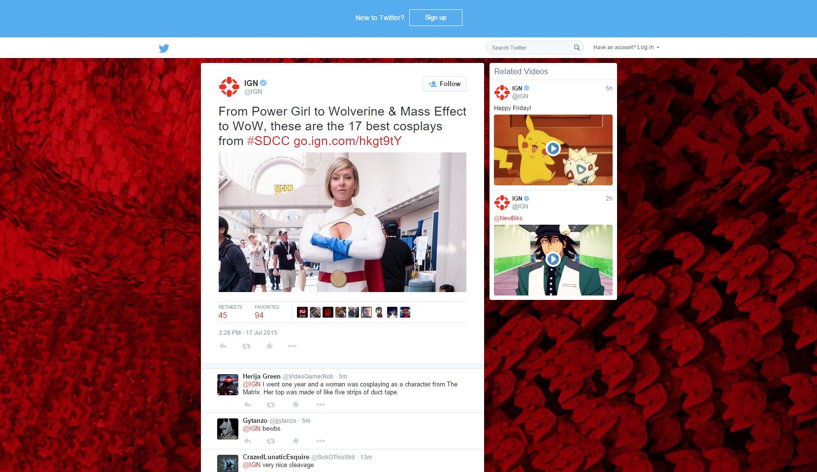 twitter related videos ign