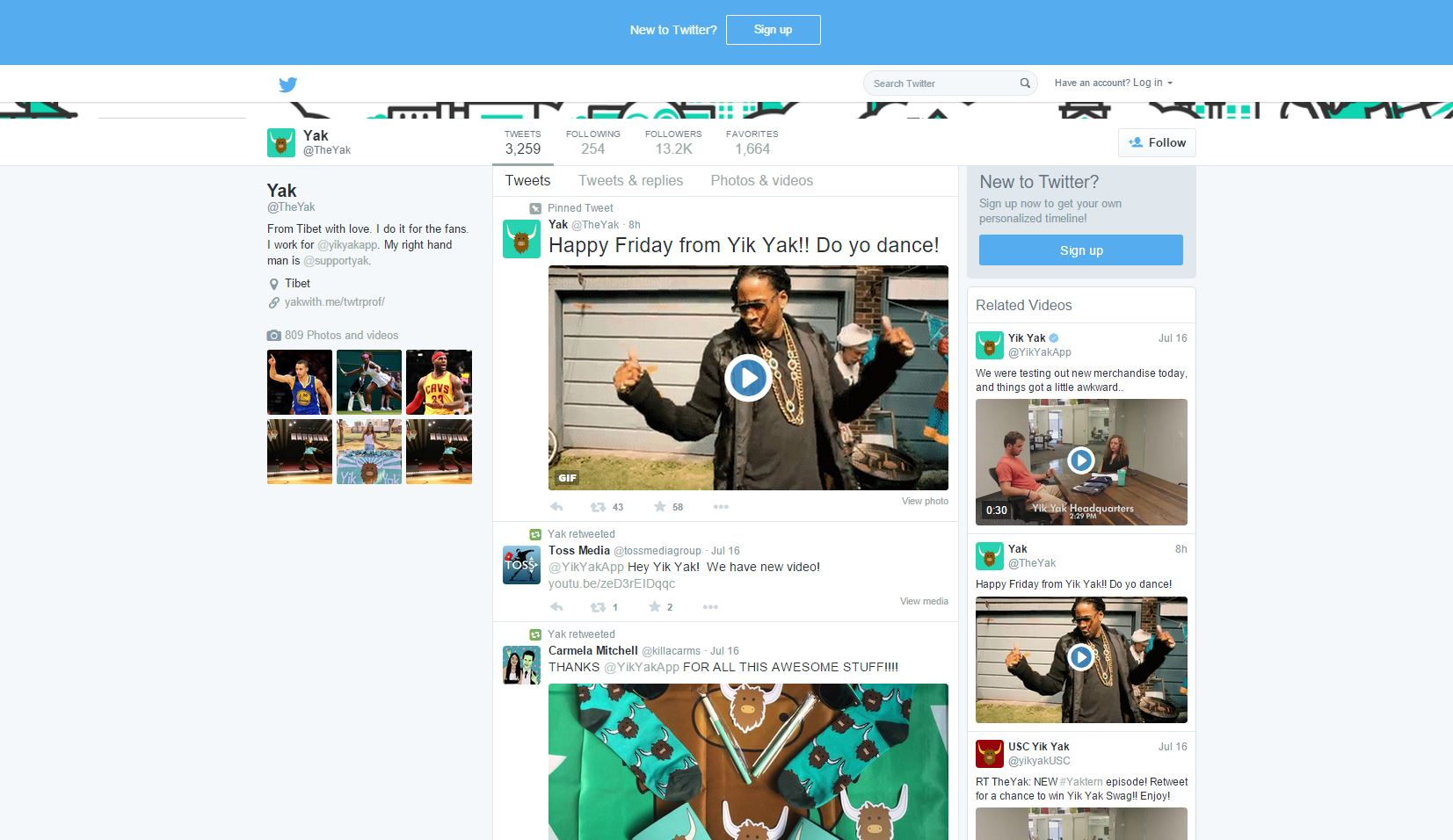 twitter related videos yik yak profile