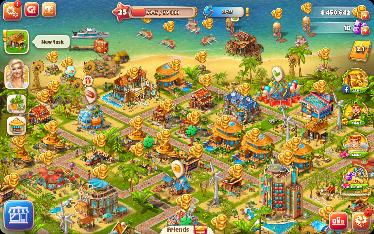 Paradise Island 2 brings all the color.
