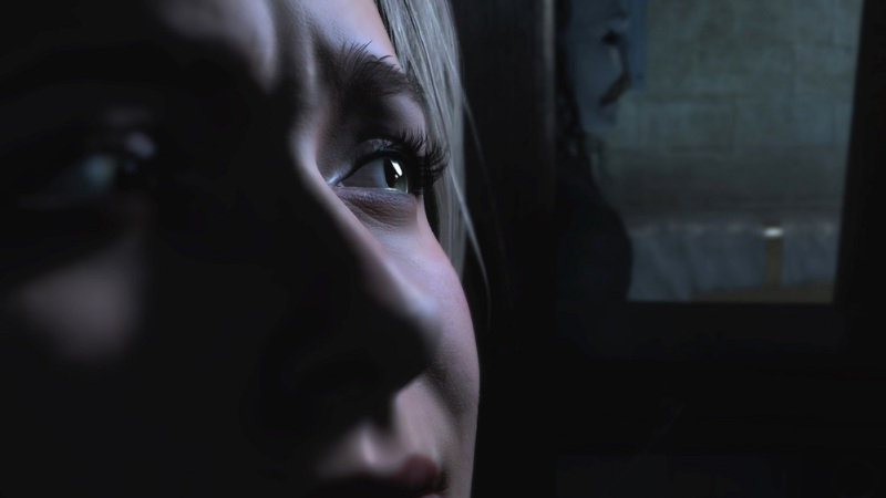 A frightened character in Until Dawn. Will you save her?