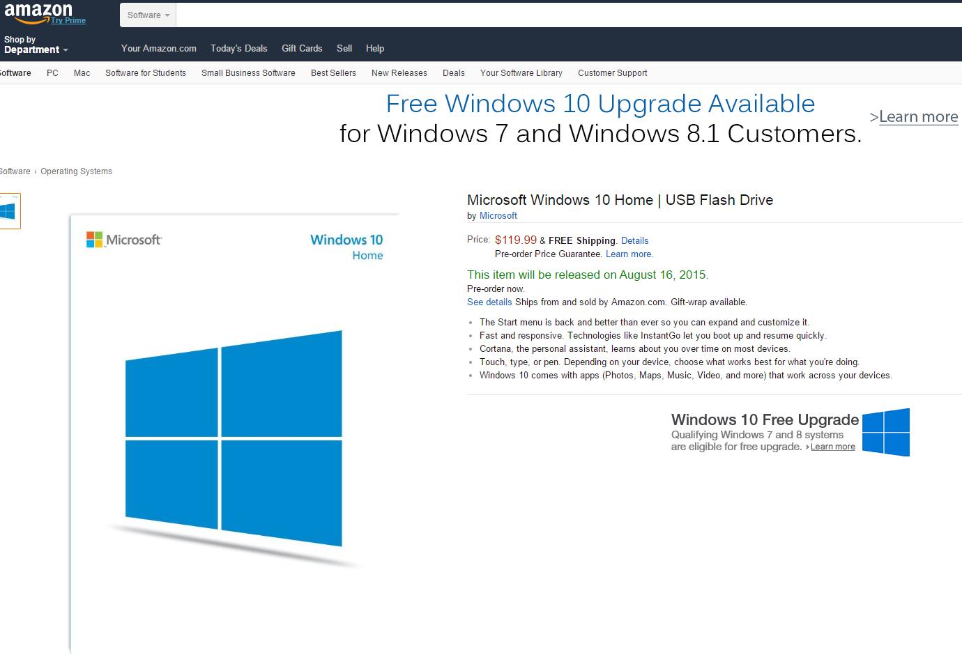 Microsoft Windows 10 Home English Usb Flash Drive: Microsoft Confirms Plans To Sell Windows 10 On USB Drives