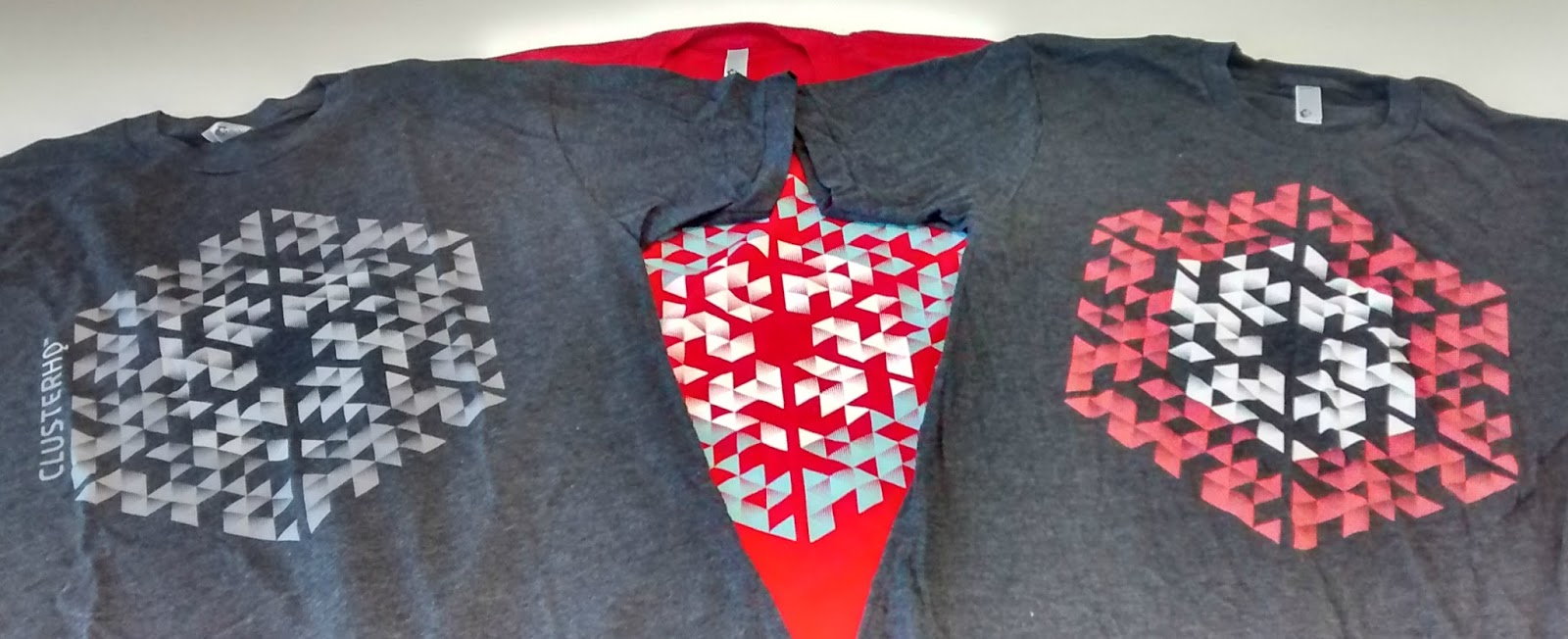 ClusterHQ T-shirts.