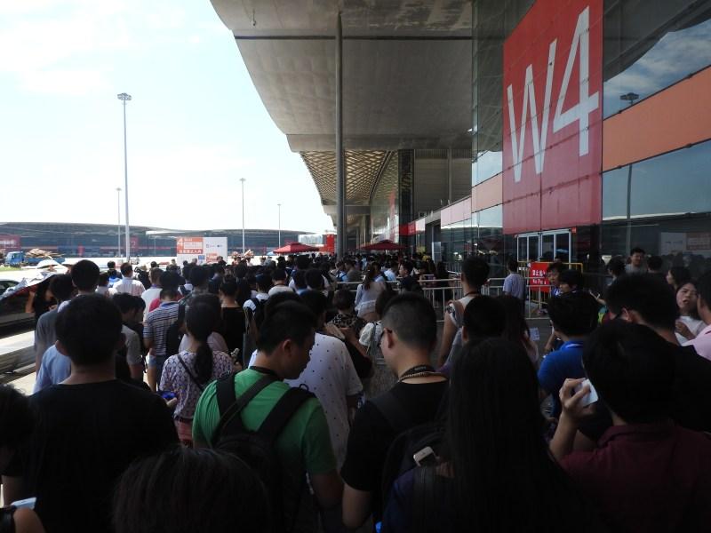 The crowd at ChinaJoy 2015.