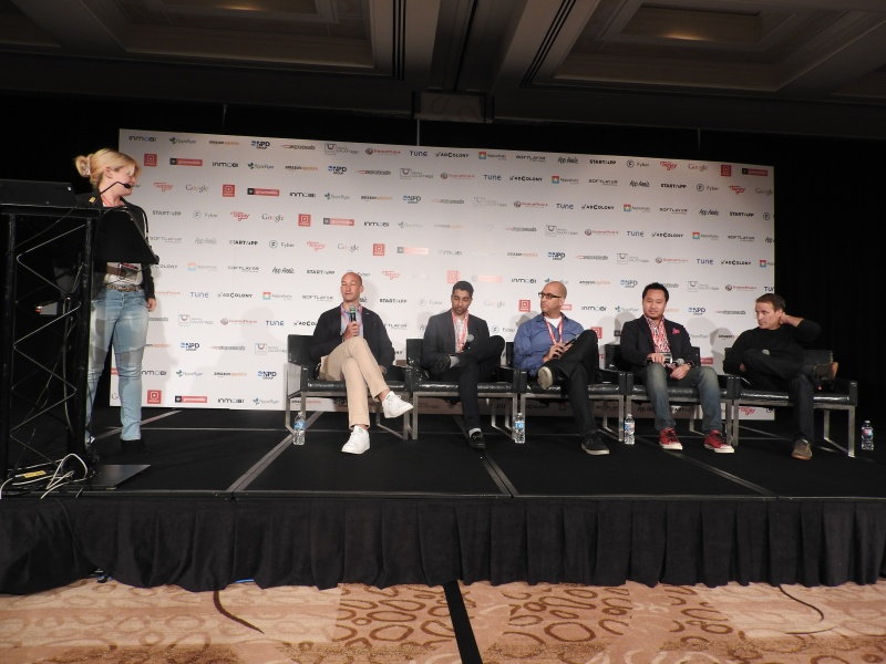 This panel, moderated by AJ Glasser of Facebook (left), was bullish on brands.