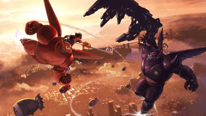 Concept art for the Big Hero 6 world in Kingdom Hearts 3.