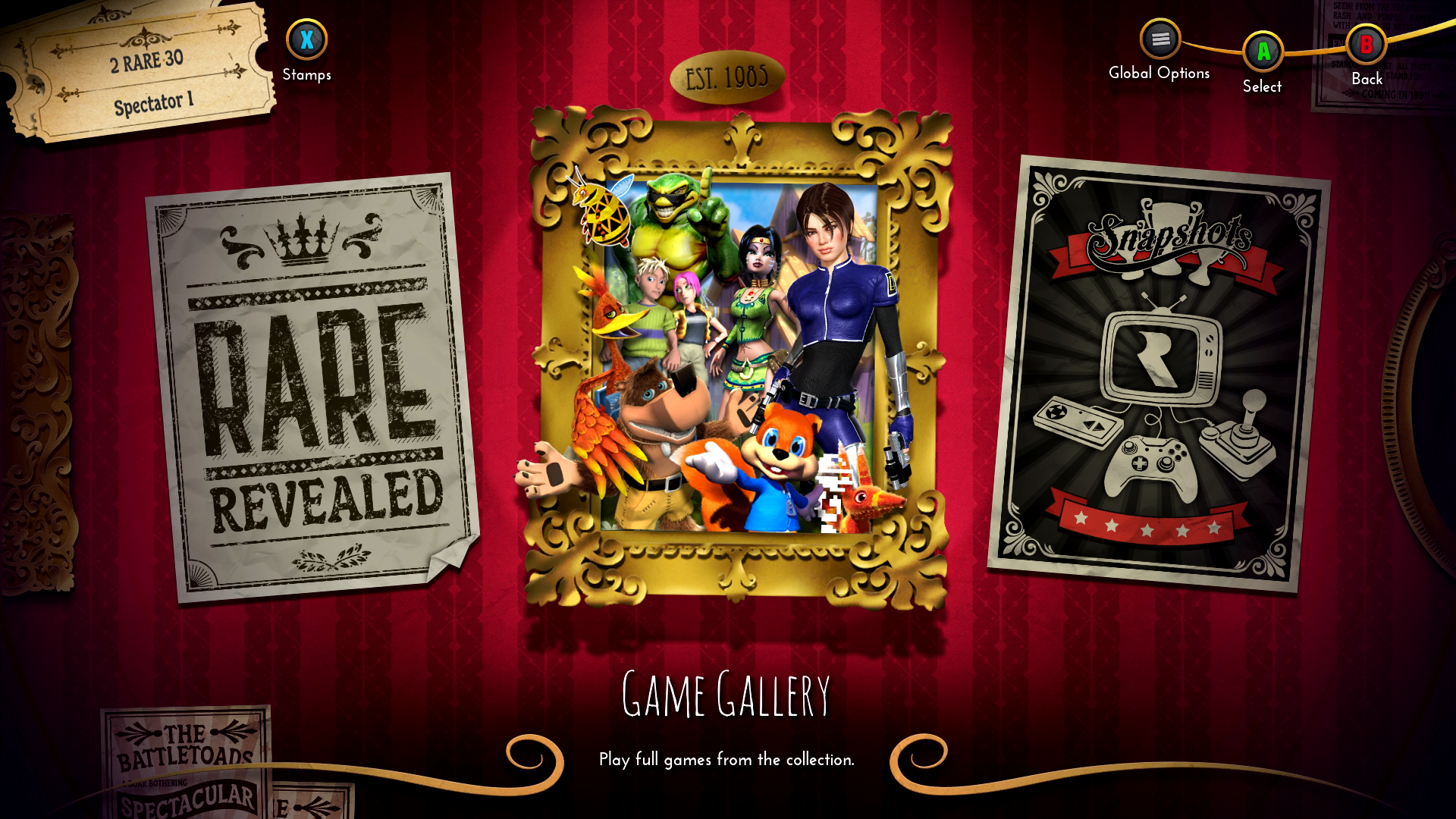 Enter the theater of Rare Replay.