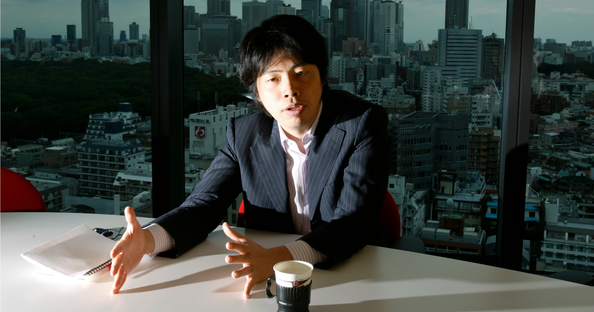 Kenji Kasahara, founder and chief executive of Japan's biggest social networking site Mixi Inc, speaks during an interview at the company headquarters in Tokyo August 26, 2009. Reuters / Yuriko Nakao