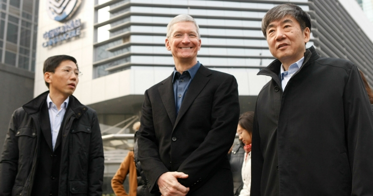 Apple's CEO Tim Cook on a visit to China in 2014.