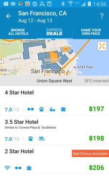 Priceline.com's mobile app