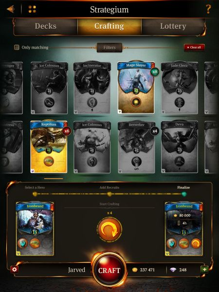 You can craft cards in Earthcore, like in other card games -- but here, you can modify them into custom cards as well.