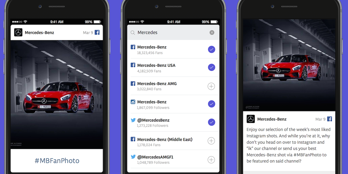 Unmetric's Sense app for tracking your competition.