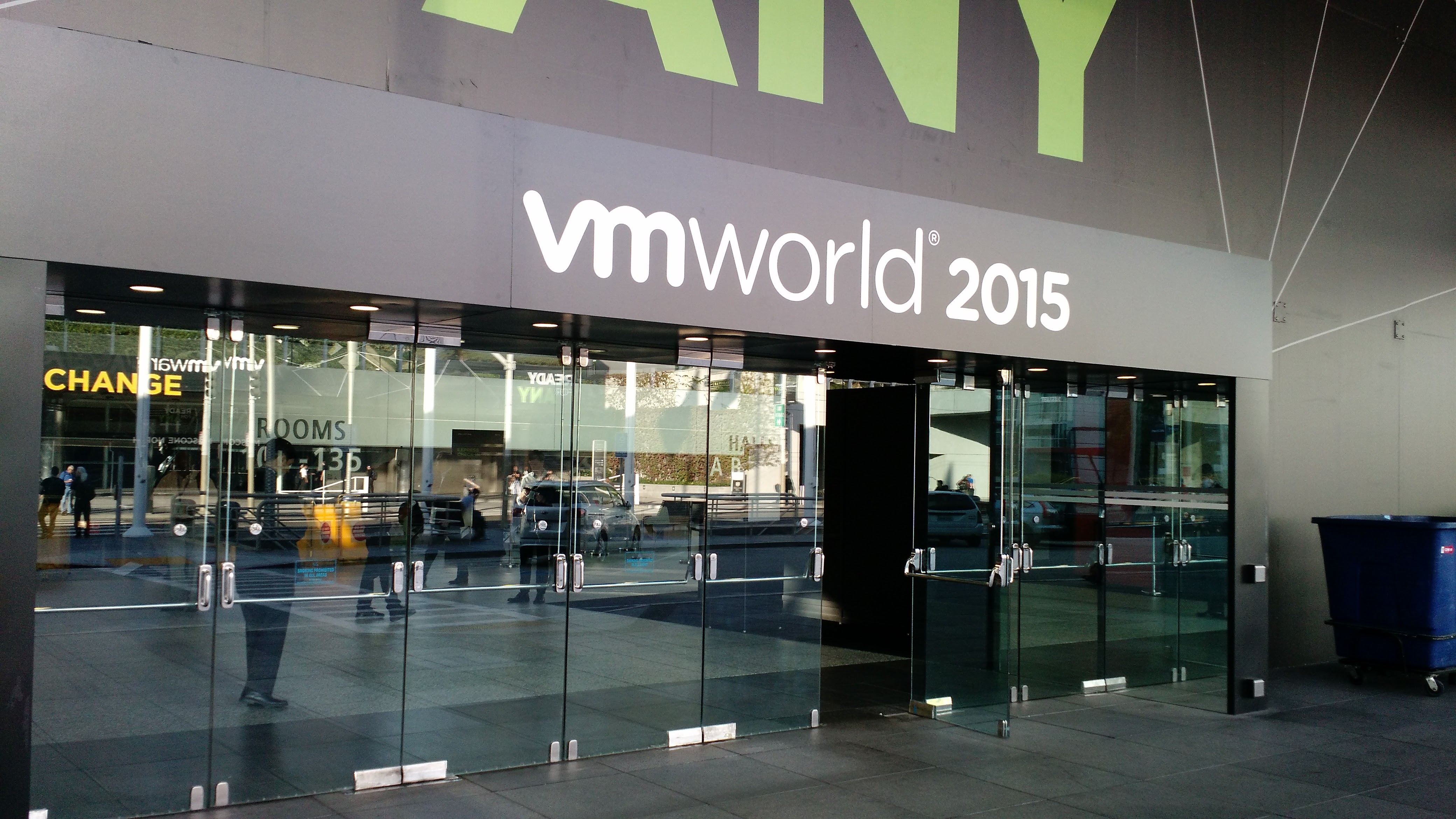 At VMware's 2015 VMworld conference in San Francisco.