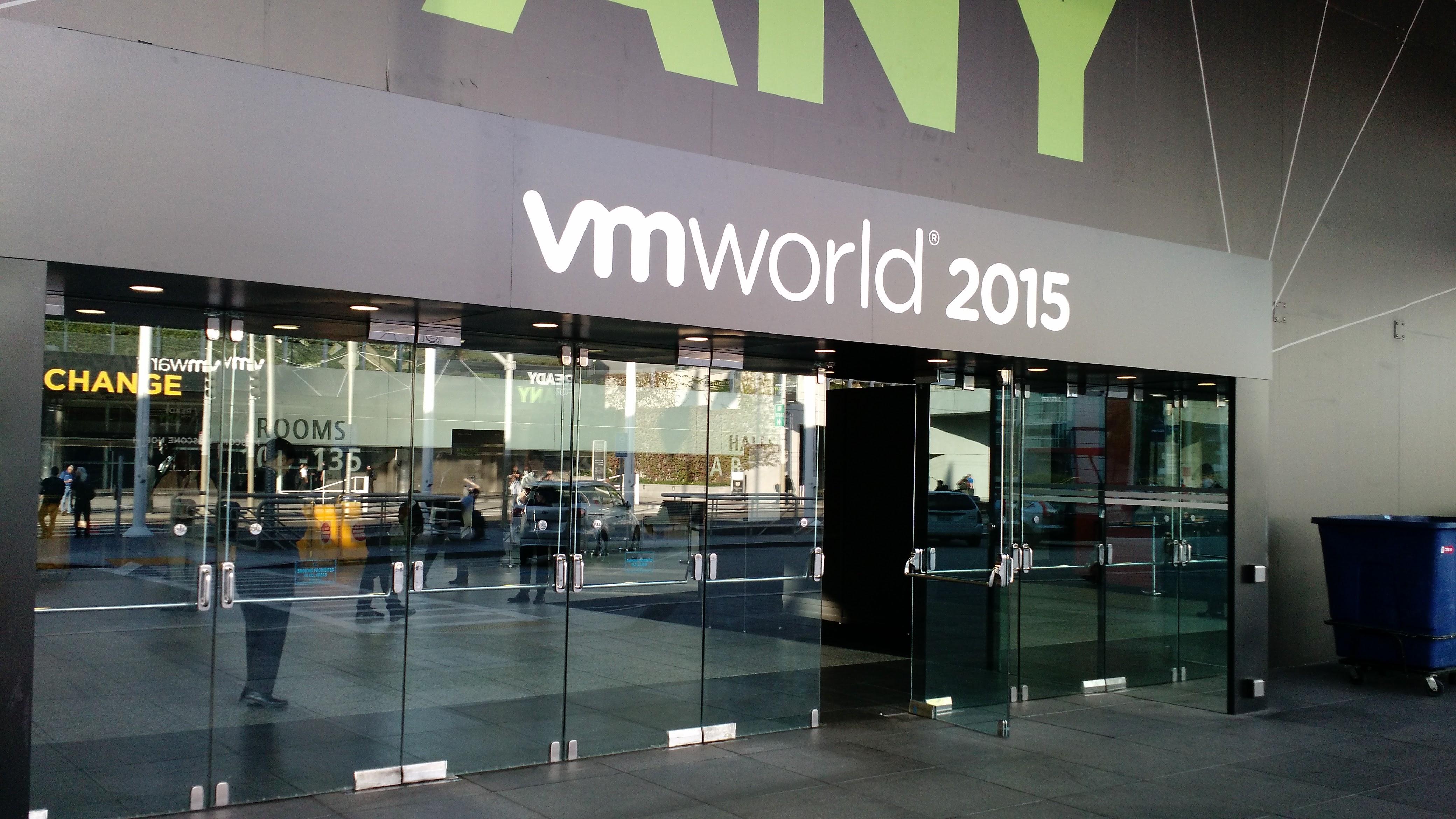 At VMware's 2015 VMworld conference in San Francisco.