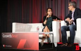 Yahoo CMO Kathy Savitt with VentureBeat CEO Matt Marshall