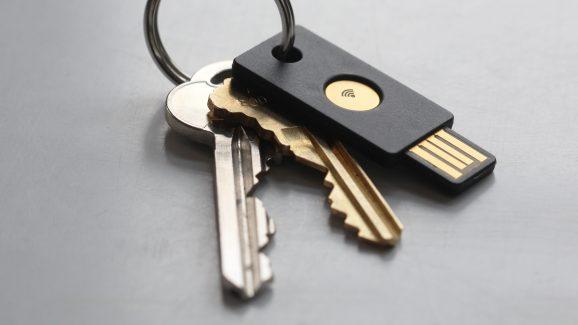 A YubiKey Neo USB key from Yubico.
