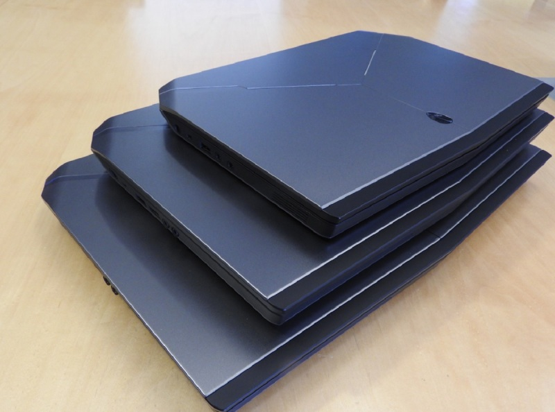 Alienware 13, 15, and 17-inch laptops.