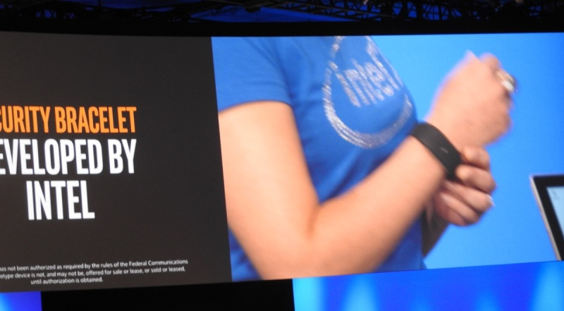 Intel security bracelet.