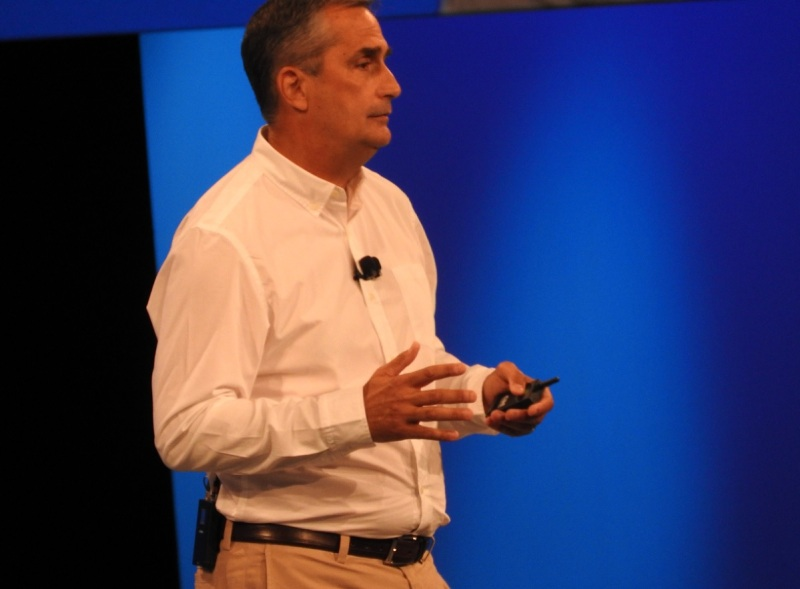 Brian Krzanich, CEO of Intel at IDF 2015.