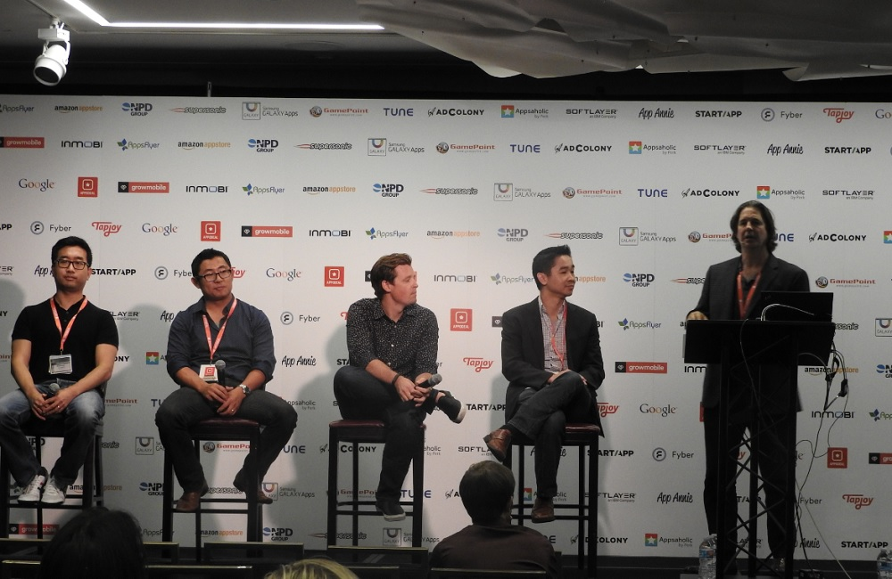 China panel at Casual Connect: Jeff Hilbert of DDM is far right.