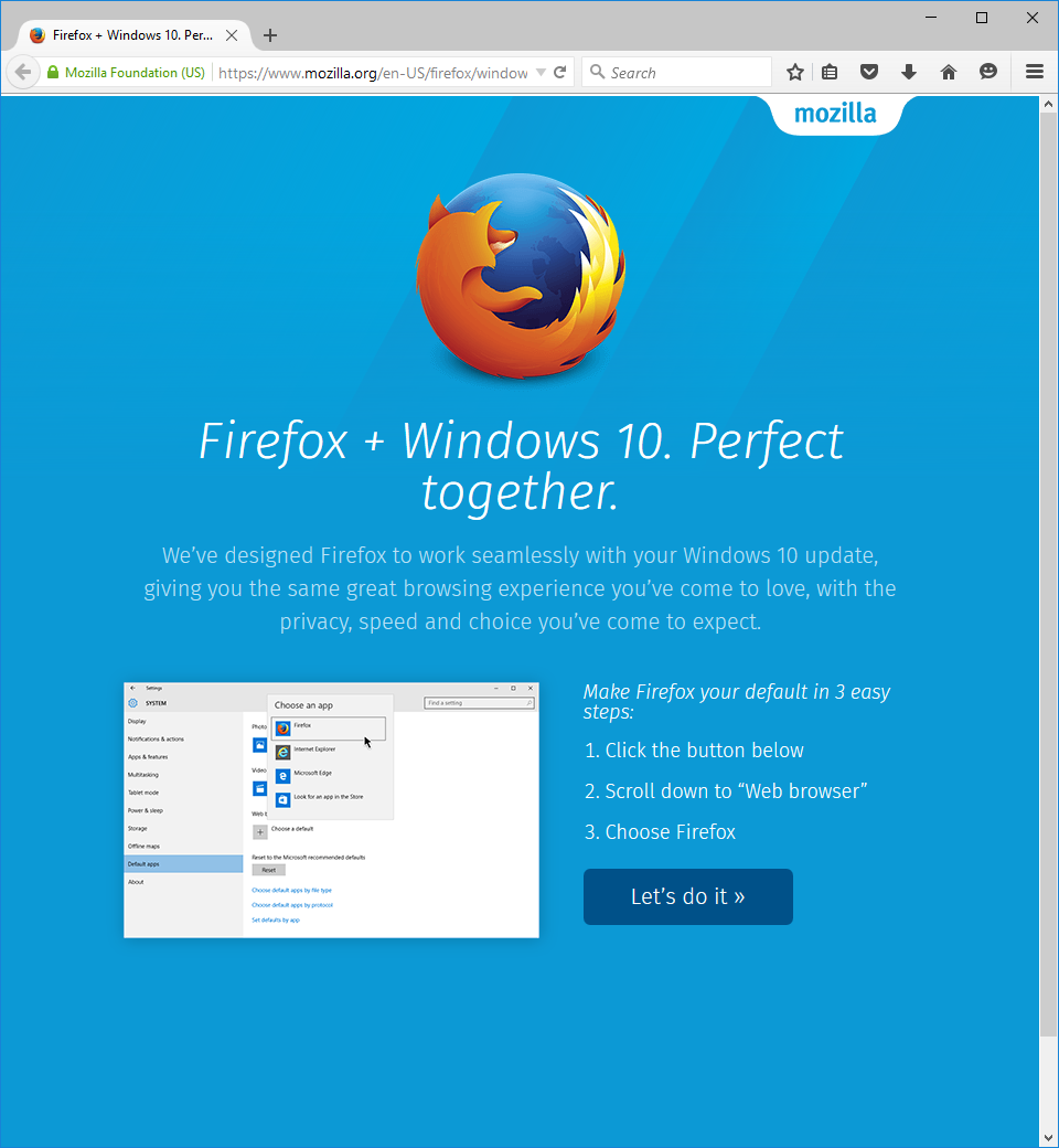 Firefox 40 arrives with Windows 10 support and expanded ...  Firefox 40 arri...