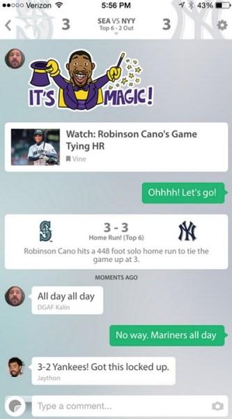 GameOn social sports app.